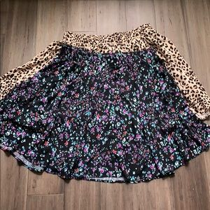 Torrid bundle of two circle skirts floral cheetah